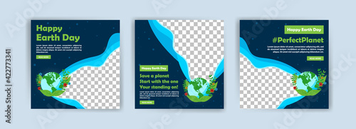 Earth Day. Education to protect the environment. Banner vector for social media ads, web ads, business messages, discount flyers and big sale banners. - fototapety na wymiar