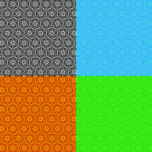 Four Different Color Textured Seamless Pattern Background Abstract Round Water Drop