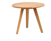 Dreibeiniger Holztisch  Freigestellt Vor Weiss