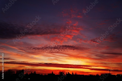 Fototapeta Zachodnie niebo obraz