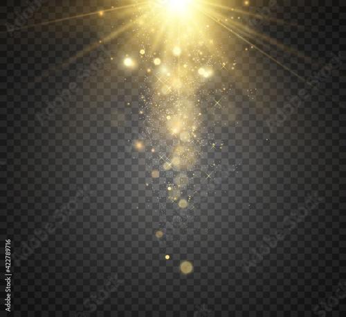 Obraz na plátne Beautiful sparks shine with special light