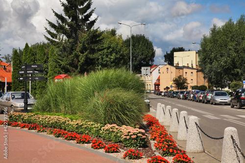 Central park in Nowy Dwor Gdanski. Poland - fototapety na wymiar