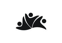 Healthy Life Fun People Logo Template Vector Icon