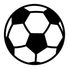 Ngi1169 NewGraphicIcon Ngi - German - Würfel Symbol . English - Black 3D Outline Football / Soccer Ball Icon . Simple Template - Isolated On White Background . Xxl G10401