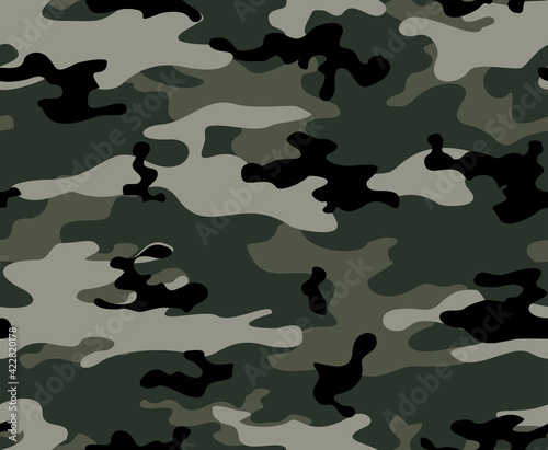 Tela Gray vector camouflage pattern, military background, stylish template