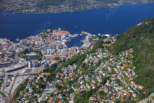 Obraz na plátně Bergen city, Norway