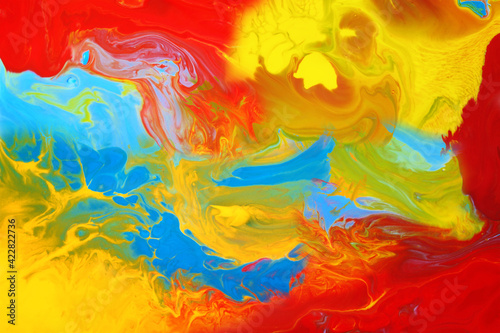 Fotografia, Obraz Abstract color art background multicolored paint colorful texture