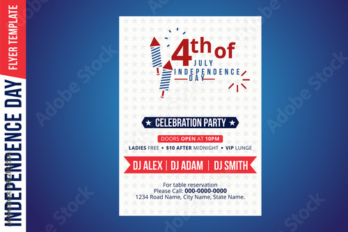 Happy independence day 4 th july, United states of america day. United states of america independence day. 4th july Happy independence day flyer design template. USA symbol, fourth of july Independenc