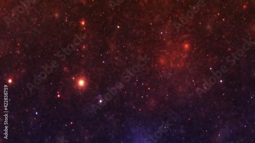 Fototapeta Stars in the night sky nebula and galaxy obraz