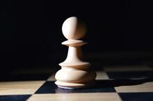 Chess Pieces Illuminated In The Dark