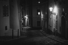 Old Streets Of Prague At Night