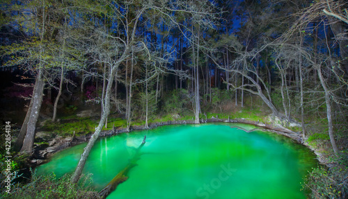 Photo Unnamed Sinkhole Glowing at Night in Florida