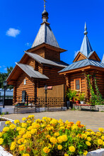 Wooden Church In Holy Trinity Convent In Murom, Russia