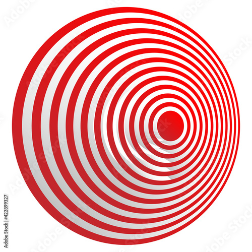 Photo Bullseye, target mark abstract vector design element