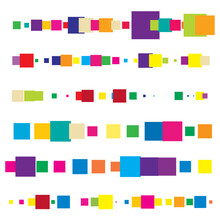 Random Squares, Blocks Vector Pattern