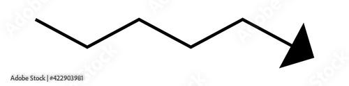 Fotografia Fluctuating arrow, curvy, zig-zag, criss-cross arrow shape element