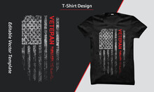 US Army Veteran Shirt, Veteran T Shirts Design With USA Grunge Flag, American Army.