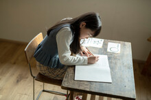 Girl Transcribing