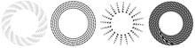 Geometric Abstract Circle, Circular Element Vector
