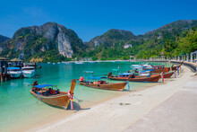 Sea Beach Atmosphere On Phi Phi Island