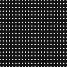 Black And White Dotted, Dots, Polka-dots Circles Seamless, Repetitive Background, Pattern