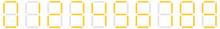 Digital Display Of Digits, Numbers, Numberals. Scoreboard, Digital Clock, Stopwatch Numbers