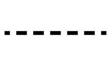 Horizontally Repeatable Dashed Line, Stripe