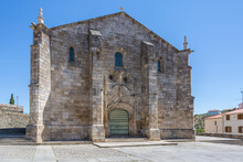 View At The Church Of So Miguel On Freixo Espada Cinta Village, Typical Romanesque And Gothic Portuguese Church