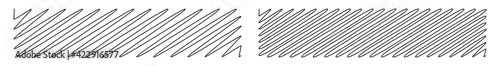 Photo Squiggle, scrawl, curvy lines rectangular element vector illustration