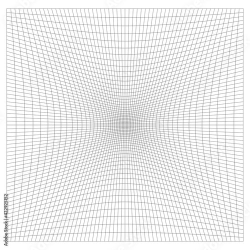 Foto Grid, mesh with distorted, deformed effect