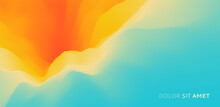 Abstract Background With Dynamic Effect. Trendy Gradients. 3D Vector Illustration For Advertising, Marketing Or Presentation.