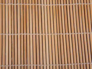 Bright bamboo mat for food texture or background
