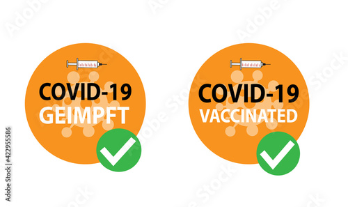 Leinwand Poster Covid-19 geimpft