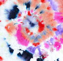 Fun Circular Spiral Tie Dye.  Pink Die Boho Dress