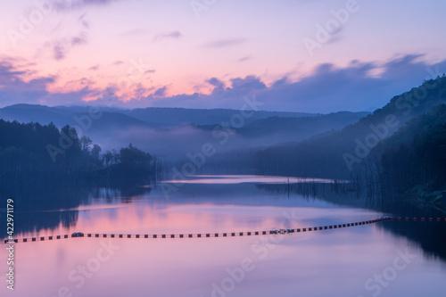 Photo 下川町サンルダムの夜明け前の風景