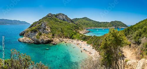 Obraz na plátně Porto Timoni beach on Corfu island in Greece