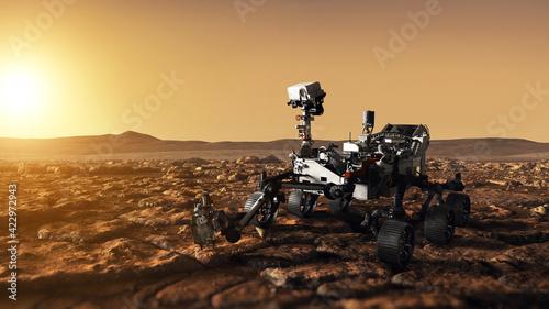 Fotografie, Obraz Mars Rover Perseverance exploring the red planet