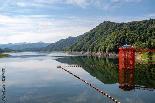 Photo 士別市岩尾内湖と青空