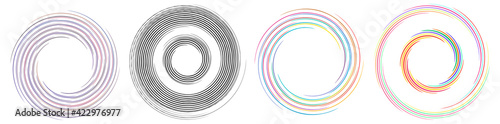 Obraz Spiral, twirl, whirlpool element vector illustration. Cochlear, helix, and volute - fototapety do salonu