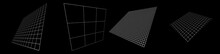 3d Angled Squared, Checkered Planes In Perspective