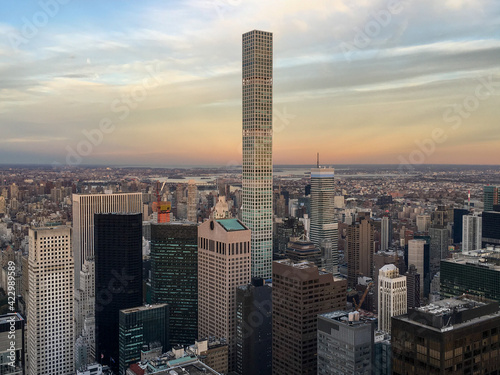 Espectacular rascacielos de la ciudad de Nueva York