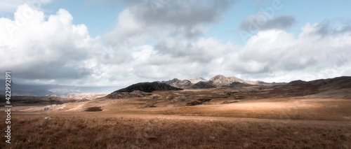 Fotografie, Obraz Idyllic landscape scenery in the Lake District, the UK in autumn