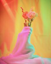Rose Petals In A Vase