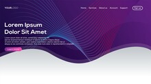 Landing Page With Abstract Purple Gradient Background
