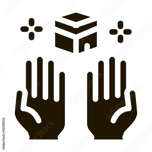 Slika na platnu desire for glorified icon Vector Glyph Illustration