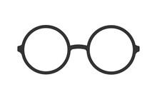 Retro Eye Glasses Icon Isolated On White. Vector Illustration