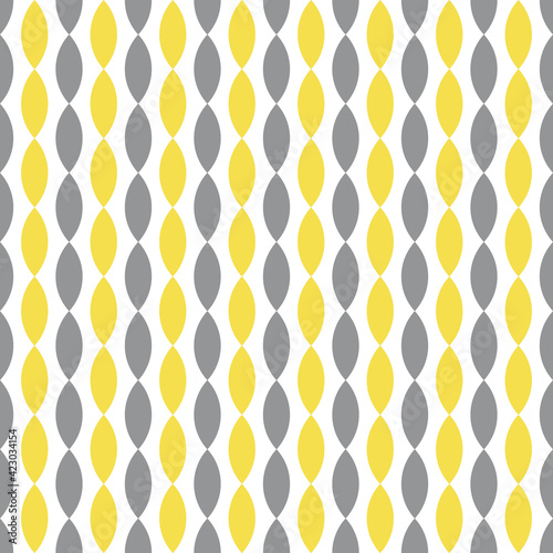 Colors of year 2021 illuminating yellow and ultimate gray simple striped pattern. Abstract geometric vertical stripes seamless pattern. Geometric design for web and print on textile, fabric, paper