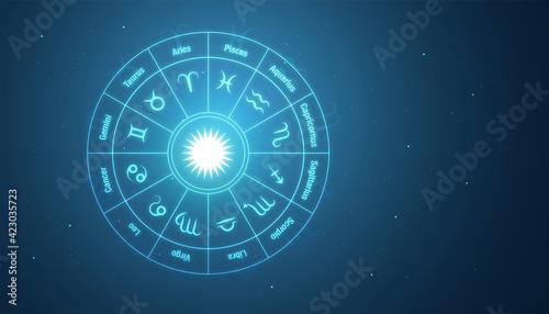 Canvastavla sfondo, grafica, zodiaco, segni zodiacali, oroscopo