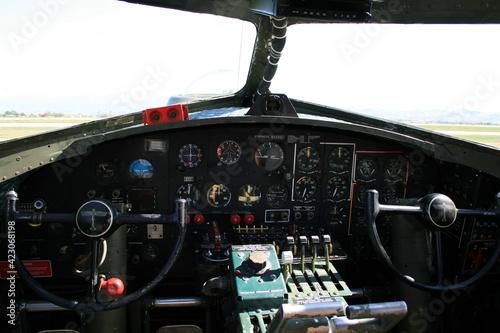 Foto B-17 WW2 bomber cockpit