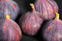 Figs Group On Black Background